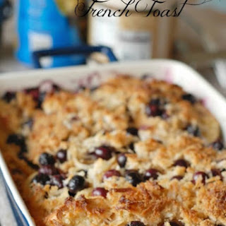 Coconut Blueberry French Toast