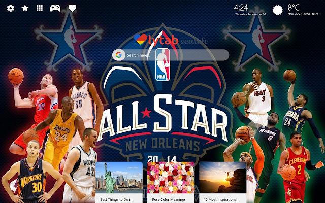 NBA HD Wallpapers and New Tab