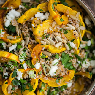 Roasted Delicata Squash Salad with Bulgur.