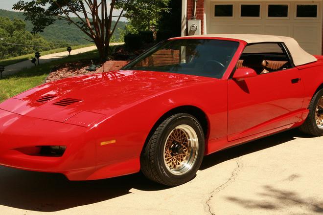 Rare Red / Tan 1991 Pontiac Trans Am Convertible 5 Speed Hire Alabama