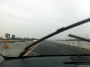 Photo: Our trip towards Italy, heavy rain