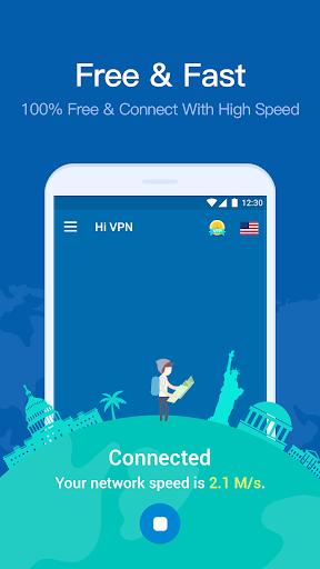 Hi VPN- Free VPN Proxy Server, Hotspot VPN Service screenshot 2