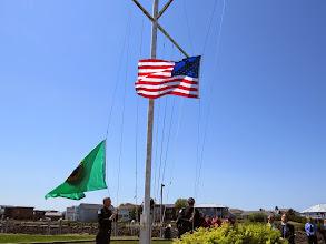 Photo: Raising the US Ensigns