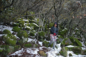Kalidonia waterfalls snow trek troodos cyprus