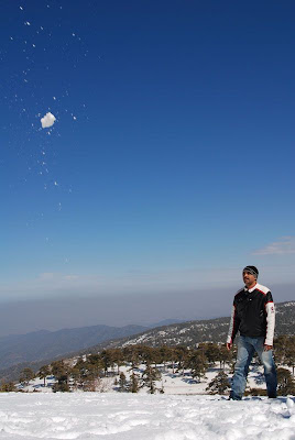 snow on troodos cyprus