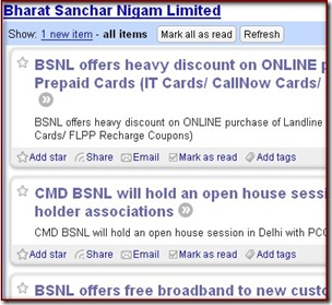 BSNL SIte Feed