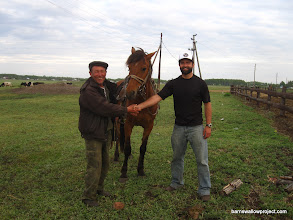 Photo: Me, Ivan, and his horse...we were fast friends