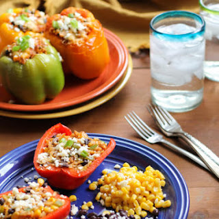 Southwest Stuffed Bell Peppers & KitchenIQ Giveaway!