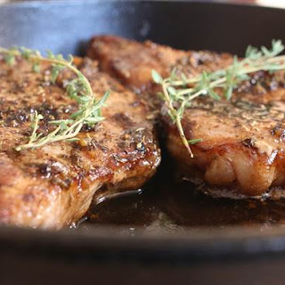 Pork Chops with Sweet and Sour Glaze.
