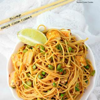 Easy Asparagus & Tofu Pasta.