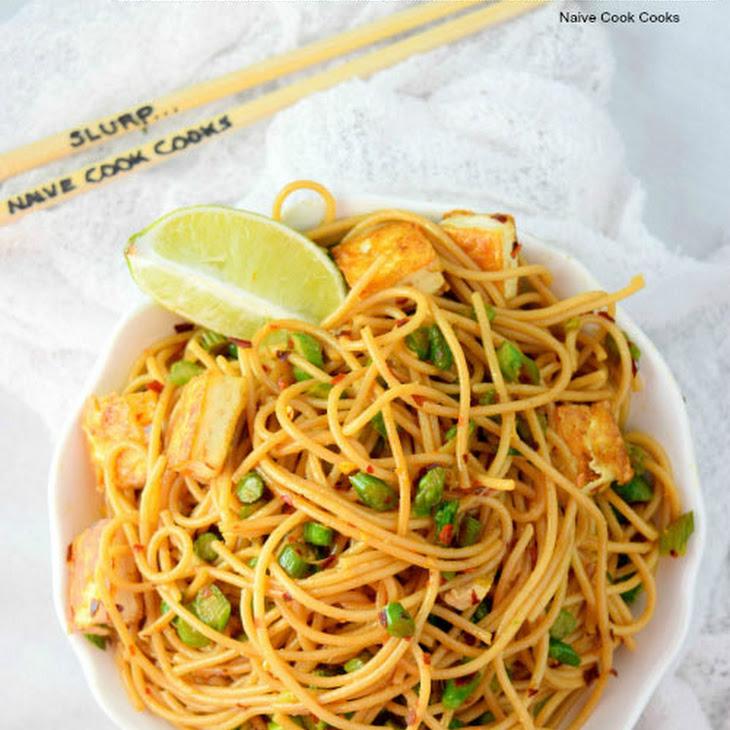 Easy Asparagus & Tofu Pasta Recipe