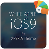 White APPLE for XPERIA Theme