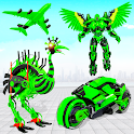 Flying Ostrich Air Jet Robot Car Game icon