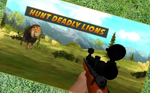 ライオンの狙撃猟
