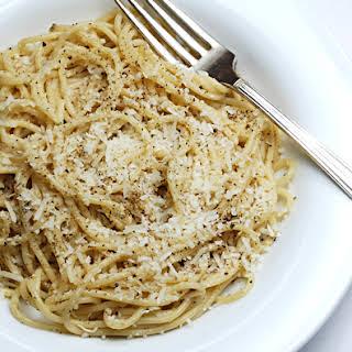 Spaghetti with Pecorino Romano and Pepper.