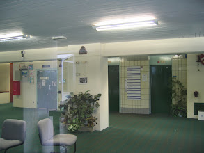 Photo: Claremont lobby and lifts (the building was locked)