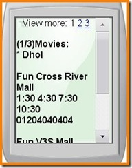 google mobile search movies delhi