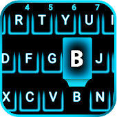 Neon Blue Smart keyboard