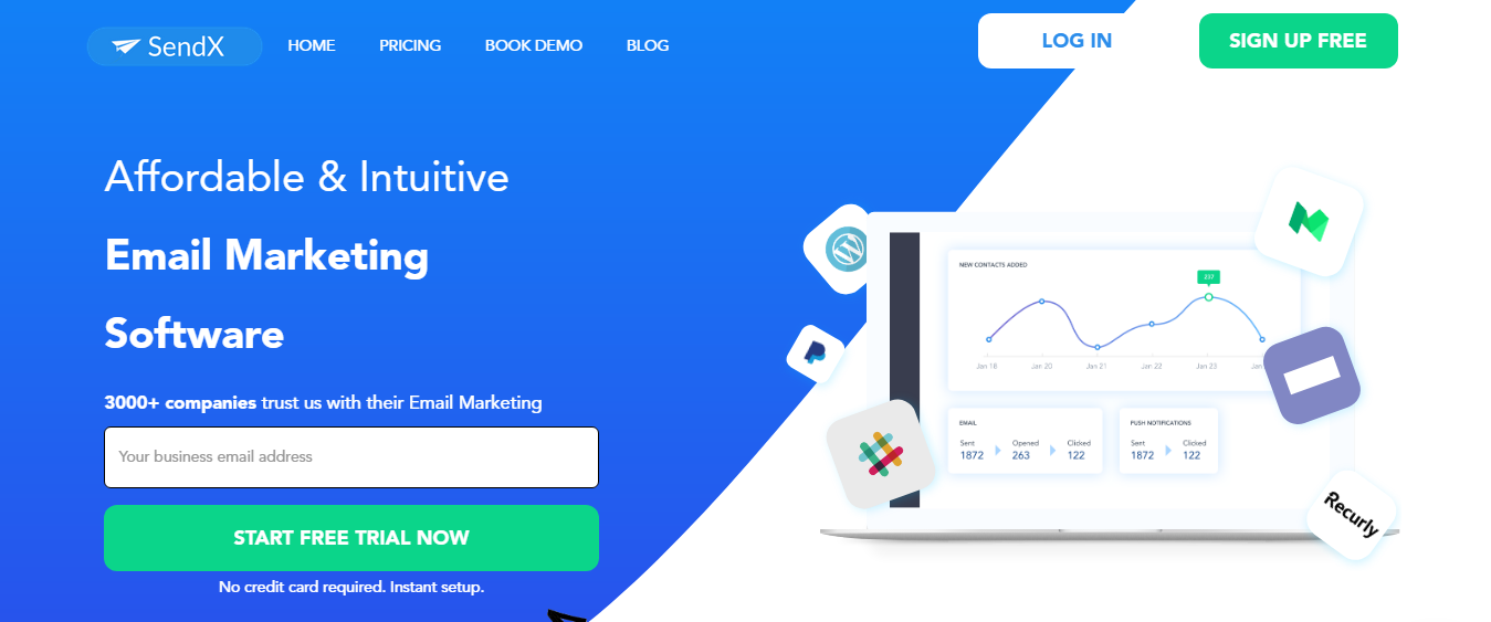 SendX -  Email marketing and lead capture software