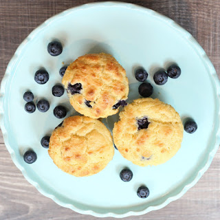 Keto Low Carb Blueberry Muffins.