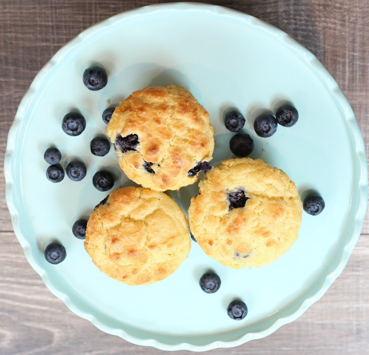 Keto Low Carb Blueberry Muffins Recipe