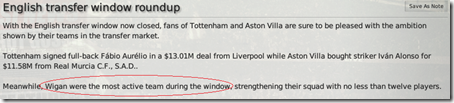 English transfer window roundup in FM 2008