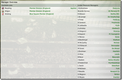 new FM 2008 screen for job seeking manager without club
