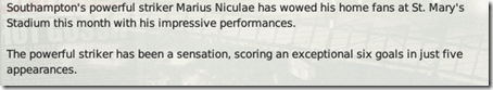 the most useful player of the team was Marius Niculae