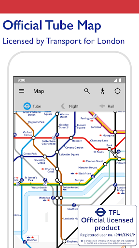 Tube Map - TfL London Underground route planner 5.9.5 Screenshots 1