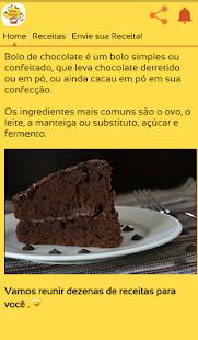 Receitas de Bolo de Chocolate - náhled