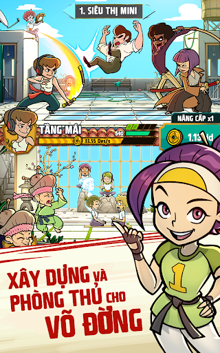Xây dựng và phòng thủ cho võ đường trong Kung Fu Clicker