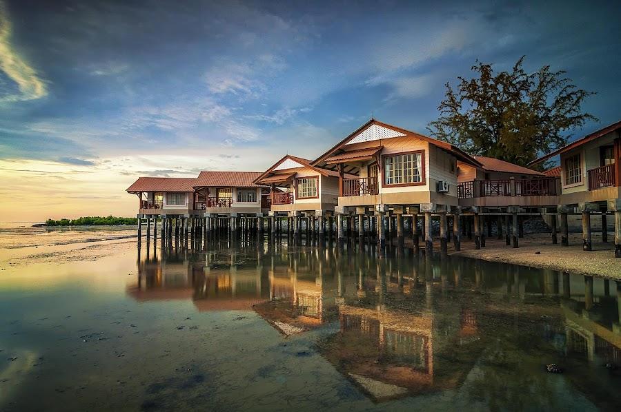 Dmuara Resort by Fadzly Sham - Landscapes Sunsets & Sunrises ( reflection, reflections, mirror )