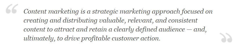 content marketing definition from content marketing institute