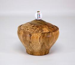 "Photo: Eliot Feldman 4"" x 4"" Beads of Courage box [spalted maple, bead]"
