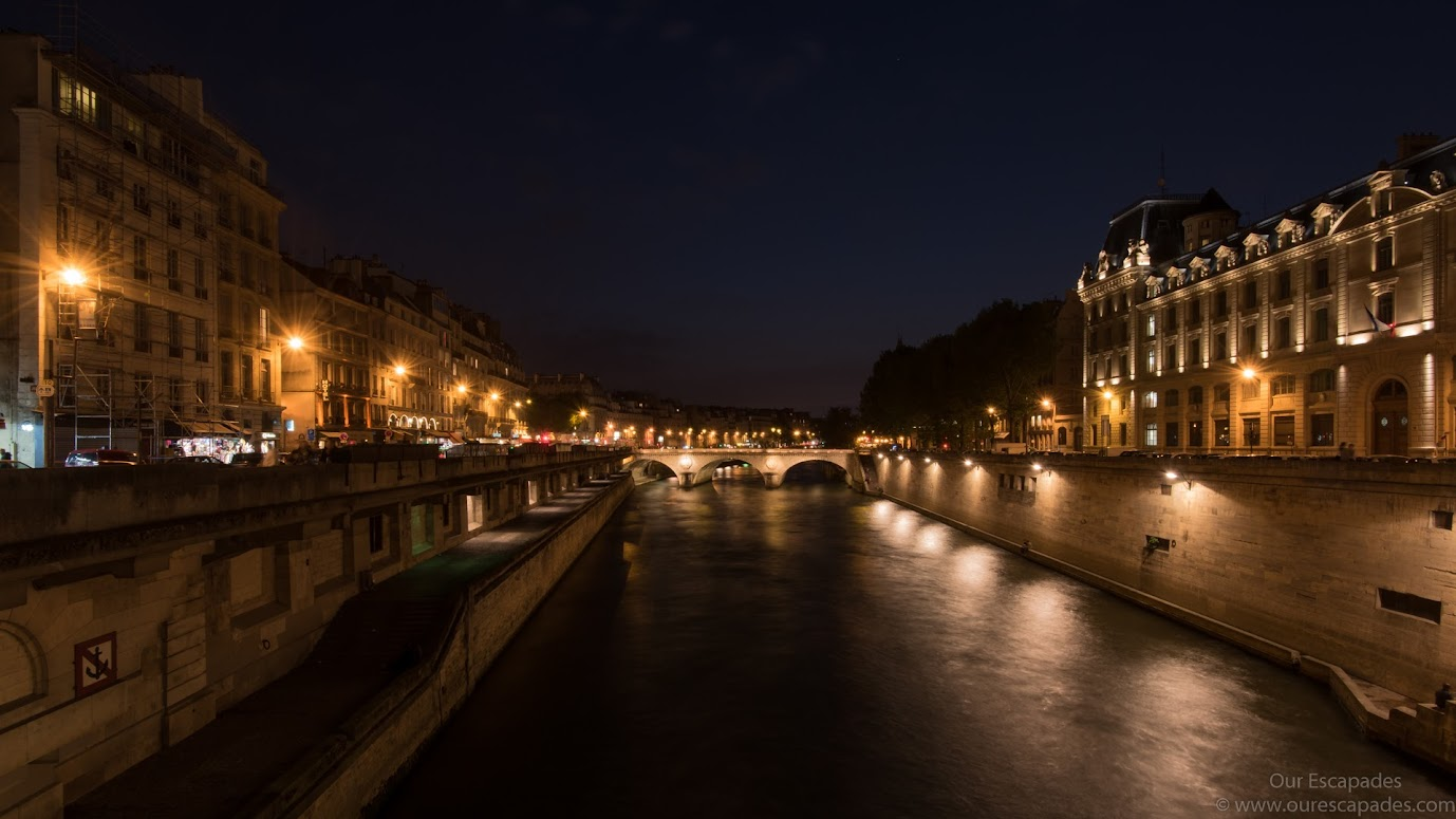 Stroll along the sidewalks of the flood-lights lit Seine River for a romantic experience