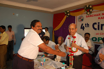 Photo: Com, Robert Lobo welcomes Sr.GM(Admn)  Sri.Chandramouli
