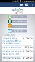 Screenshot of HealthSCOPE Benefits Mobile