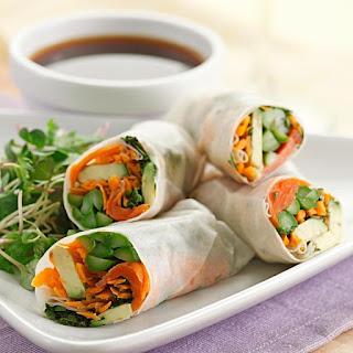 Asparagus & Salmon Spring Rolls