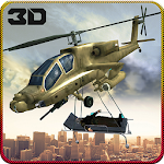 Military Helicopter Rescue Ops Icon