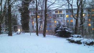 Photo: Am Eingang Grünstraße des Stadtgartens steht der oberste Trakt des Allgemeinen Krankenhauses Hagen (AKH).