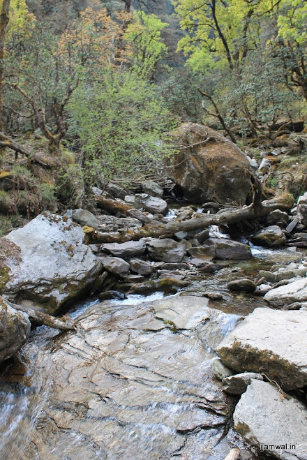 A mountain stream we crossed
