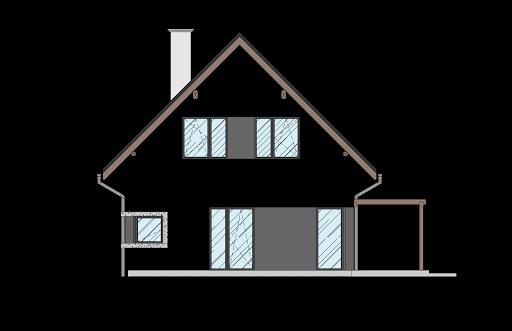 Energodom1 (oferta z budową) - Elewacja prawa