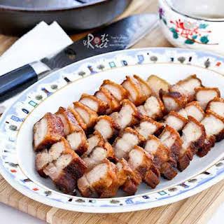 Pan Fried Crispy Pork Belly.