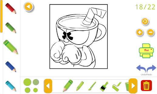 cuphead coloring book 2018 - náhled