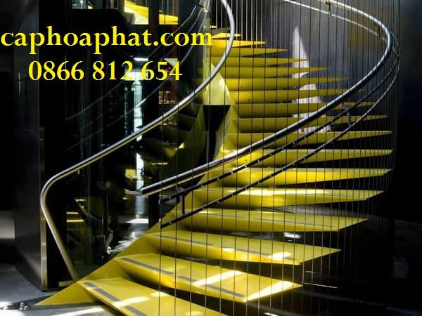 Hoặc dạng bậc treo (cầu thang dây cáp treo)