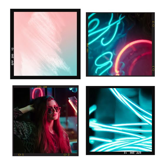 Neon Collage Frame - Instagram Post Template