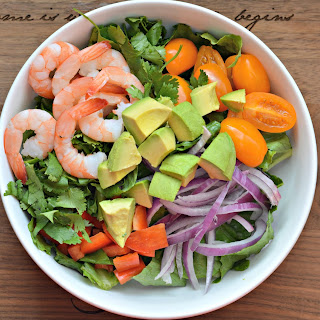 TROPICAL CILANTRO-LIME SHRIMP and AVOCADO SALAD Recipe