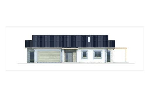 Agat wersja B dach 32 stopnie - Elewacja przednia