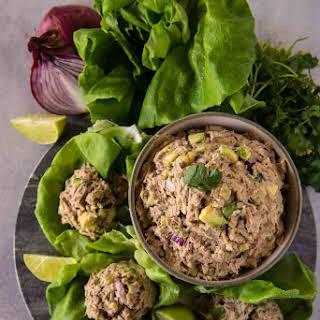 Tuna Salad Lettuce Wraps.
