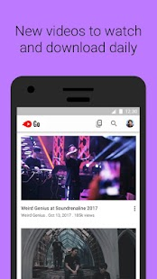 YouTube Go- screenshot thumbnail